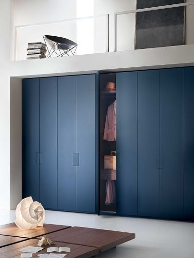 Modular wardrobe / contemporary / in wood / glossy lacquered wood - LEMA Home