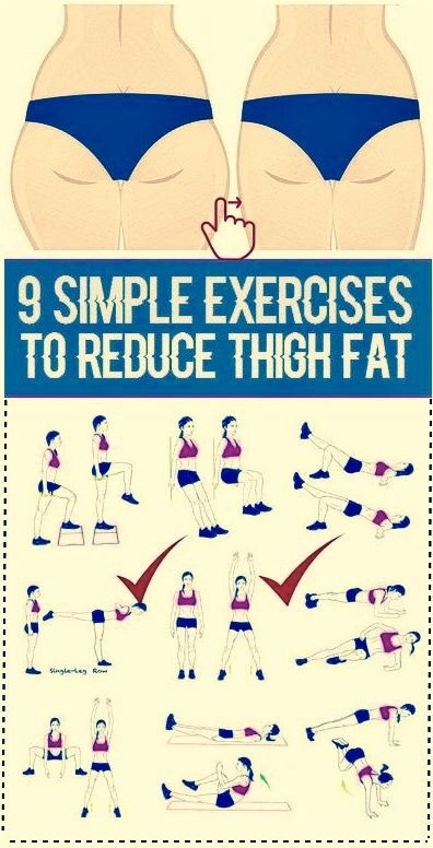 9 Simple Exercises to Reduce Thigh Fat More,...In this guide you will learn how to lose thigh fat fast in a week by doing targeted thigh workouts that trim inner and outer thigh fat!