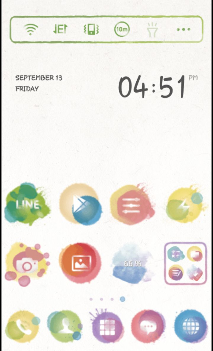 Watercolors theme by dodol launcher