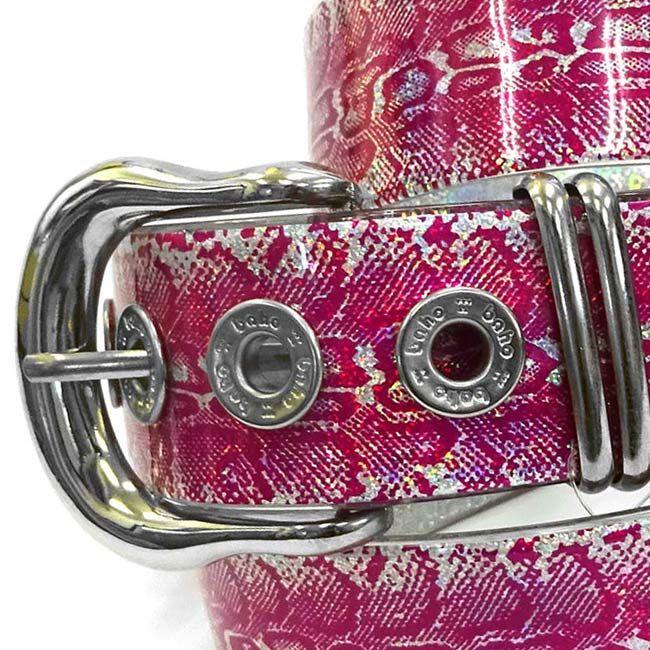 スタンダード ライン パイソン ホログラム ピンク フリーサイズ 39mm http://bahodesign.com/standard-line-110 …  #ゴルフ #ベルト #bahodesign #バホデザイン #バホ #日本 #大阪 #ホログラム #ごるふ