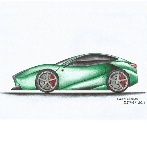 My Design  Ferrari F15 Milano Sketch Draeing Green  FerrariF15Milano