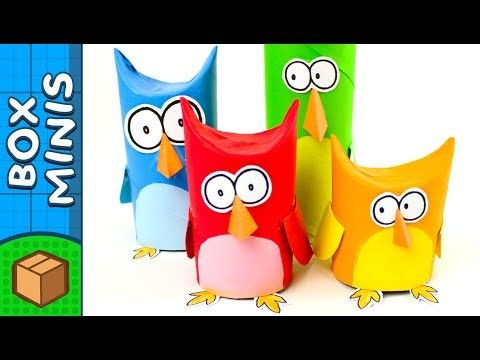 Toilet Paper Roll Owl Family | DIY Crafts Ideas For Kids | Box Minis