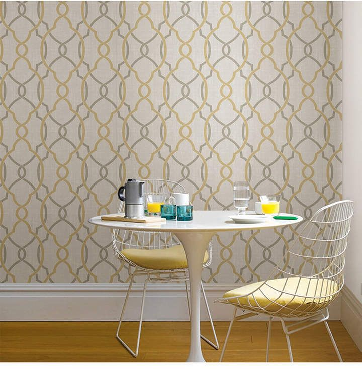 Brewster Home Fashions Sausalito Taupe Or Yellow Peel And Stick Wallpaper Reviews Wallpaper Home Decor Macy S Kitchen Wallpaper Peel And Stick Wallpaper Home Decor