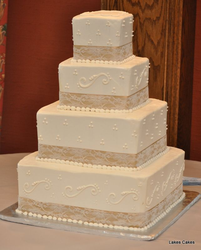 106 best images about Lakes Cakes: Wedding cakes on ...