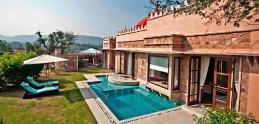Pool villa at Tree of Life, Rajasthan, India