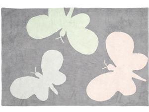 Bambini Butterflies Gri Covor pentru camera copii