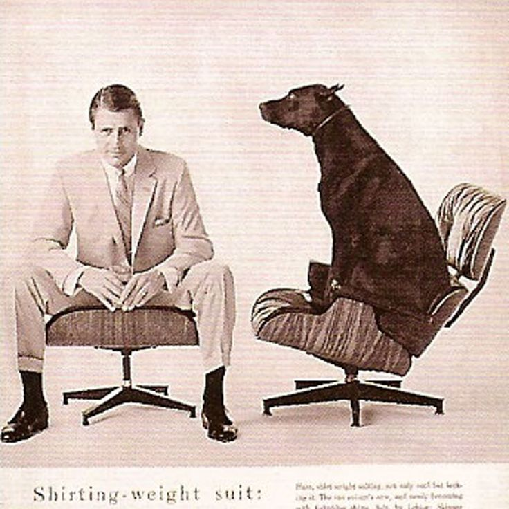 James Eames Lounge Chair Lounge Chair And Ottoman In Lebow Men's Suits Ad, Vogue ...