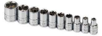 Sk Hand Tools 4910 Set Skt 1/4Dr Std 6Pt Fr 10Pc
