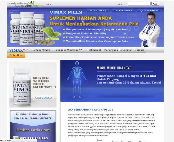 Vimax Store merupakan Distributor Resmi Vimax Asli Canada yang beralamat di Jl Raya Cileunyi no.197. Bandung. Vimax sendiri merupakan produk herbal alami yang berhasiat untuk menambah panjang dan lingkar penis, meningkatkan Libido, kesehatan reproduksi laki-laki dan membantu untuk mencapai ereksi yang lebih kuat.