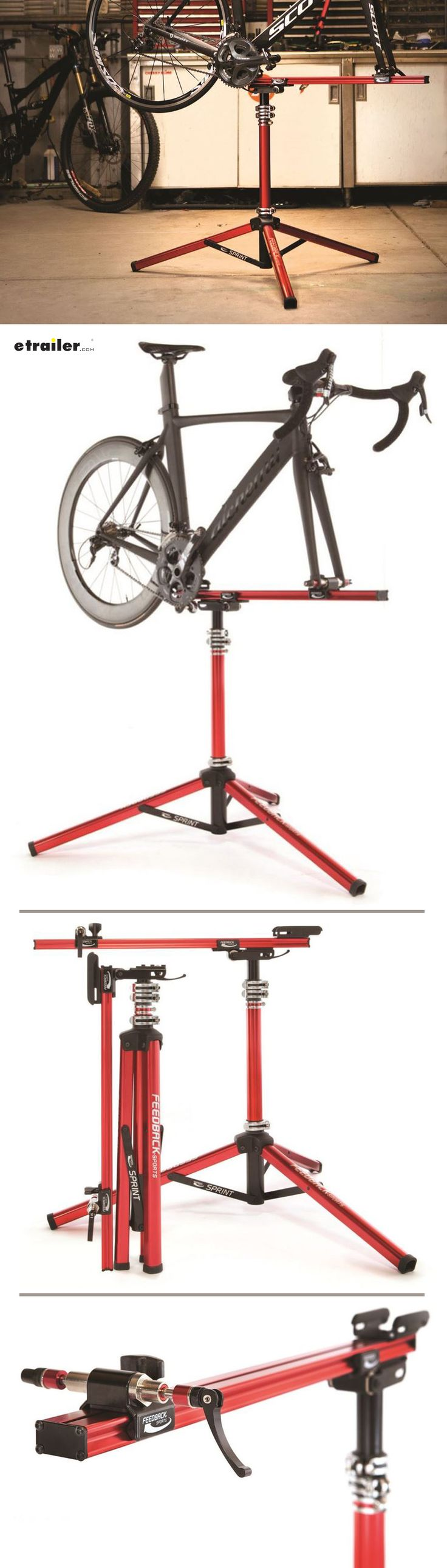 Make working on your bike easy with this Feedback Sports Sprint bike work stand. Stable tripod design allows 360-Degree bicycle rotation.