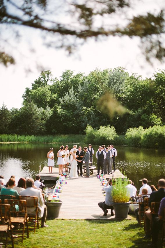 casual lakeside wedding | a beautiful mess.  Who knew planning outside weddings was so tough.  Just another gorgeous site I wouldn't mind having. :)
