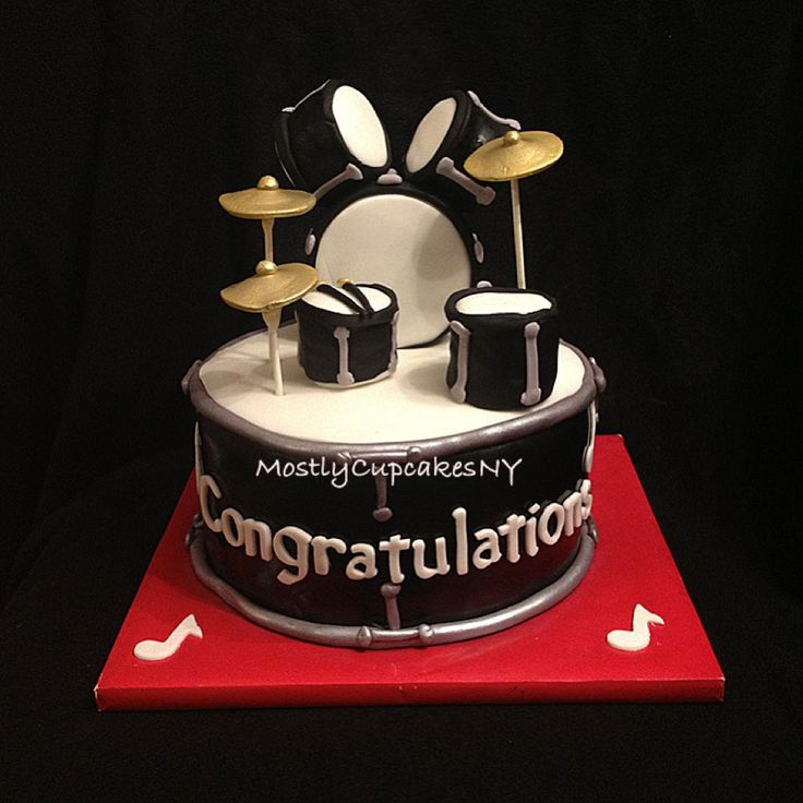 Drum set cake. Graduation cake. Drummer cake. Cakes ...