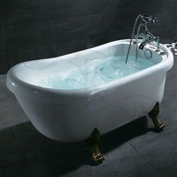 Ariel 062 Clawfoot Antique Whirlpool, Jacuzzi Bath Tub, Soaking Tub
