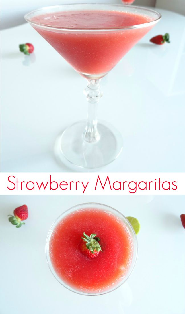Strawberry Margarita Recipe - a sweet and fruity tequila cocktail that's a lot simpler to make than you might think. Bring on Cinco de Mayo! | www.pinkrecipebox.com
