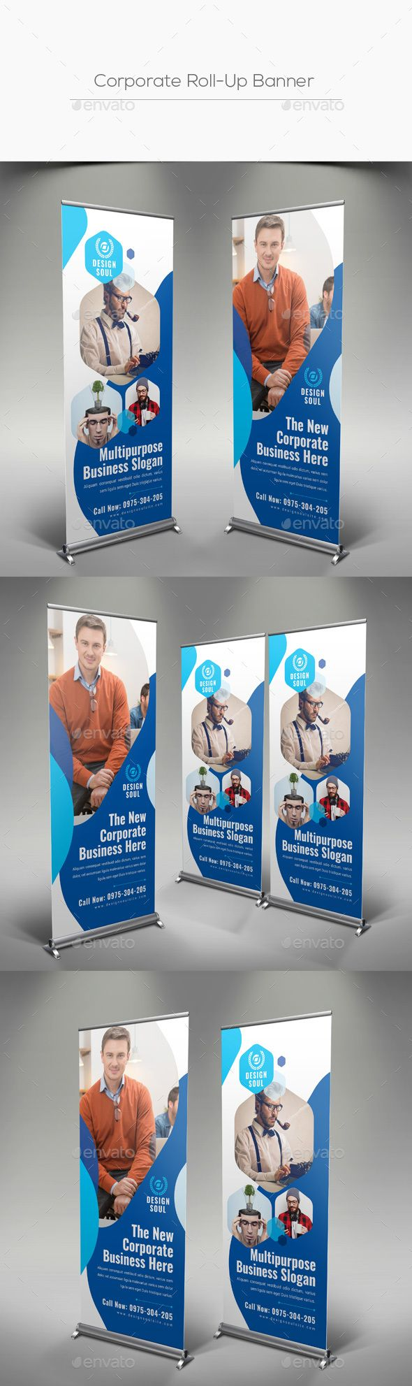 #Corporate #Roll-Up #Banner - Signage Print Templates