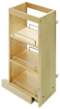 Pull Out Spice Rack Filler For Upper Kitchen Cabinets