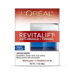 This unique nighttime moisturizer delivers anti-wrinkle and firming action while you sleep. Each morning, skin will appear refreshed, radiant, and younger looking. Experience advanced action against the signs of aging with smoother, firmer skin in just 4 weeks. RevitaLift® Anti-Wrinkle + Firming Night Cream (with Pro-Retinol® A and Stimuplex) reduces wrinkles, firms skin, and provides 24 hour moisturization.