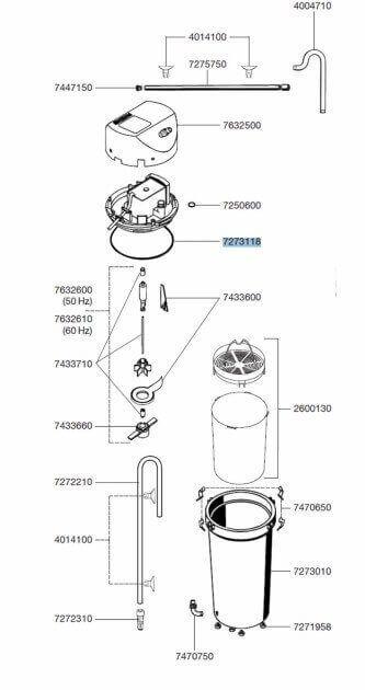 Pièces détachées pour filtre externe Eheim Classic 2213_0