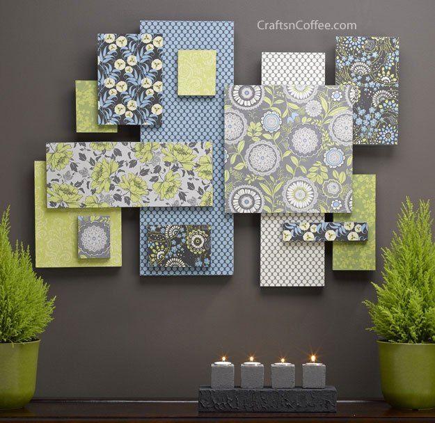diy-scrapbook-paper-wall-art