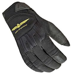"""Textile Honda Gold Wing """"skyline"""" textile and mesh motorcycle riding gloves with leather gel palm."""