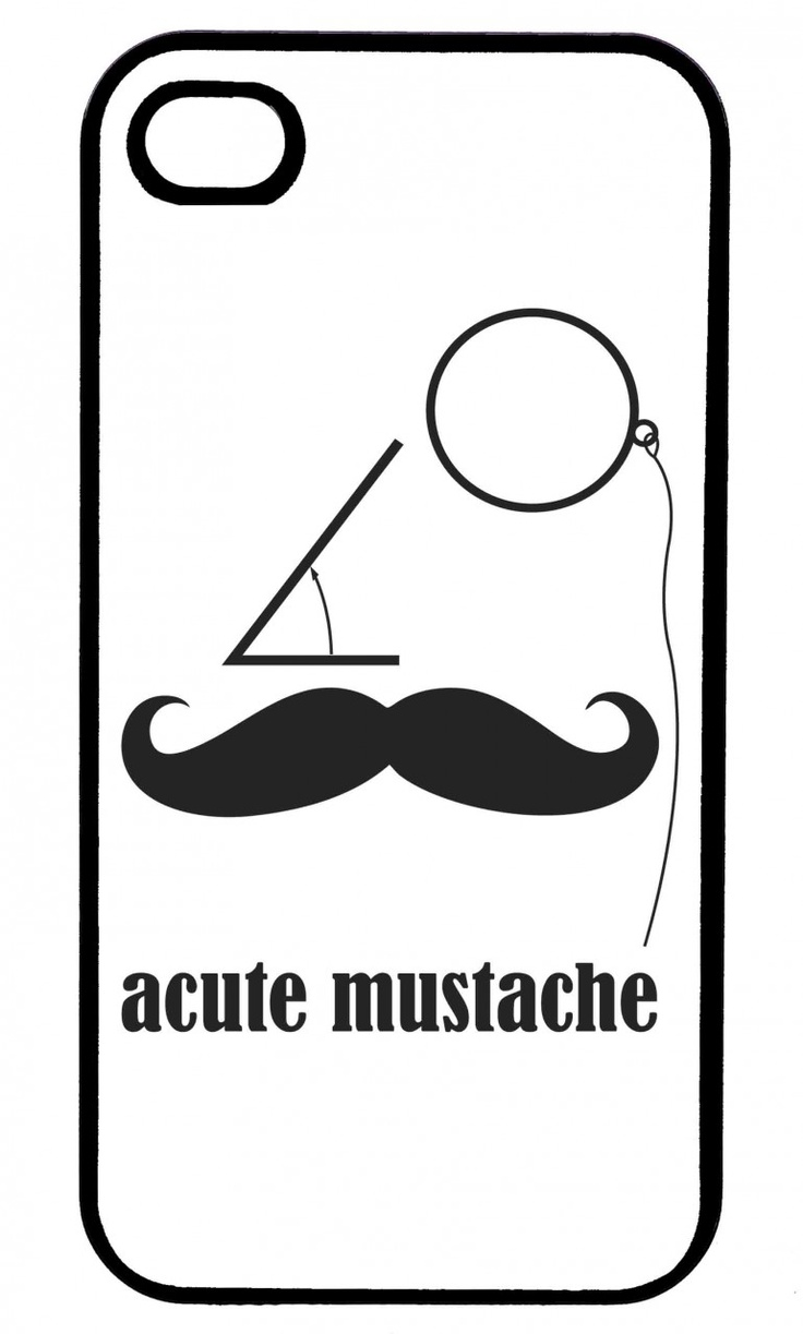 Black & White Acute Mustache iPhone Case (http://www.wordon.com.au/products/black-and-white-acute-mustache-iphone-case.html)