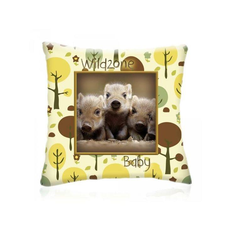 WILD ZONE Baby VADDISZNÓK állatos díszpárna 28x28 cm - Díszpárna.com Webáruház