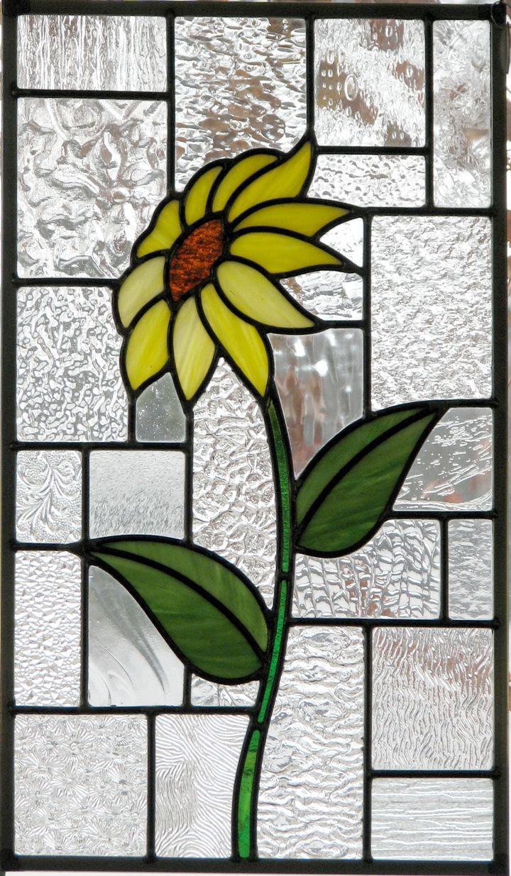 Single Sunflower Glas In Lood Glas Zonnebloemen
