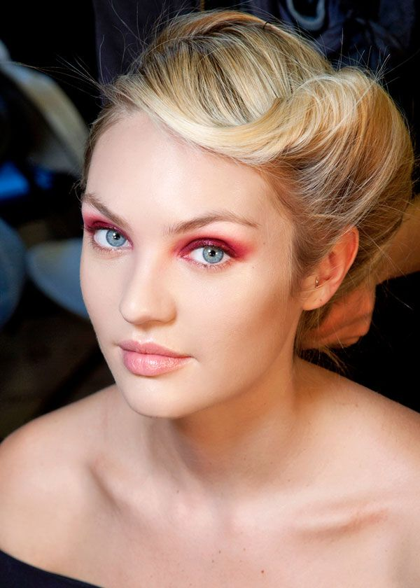 Rouged lids on the Donna Karan fall/winter 2013 runway #pavelife #hair-tastic