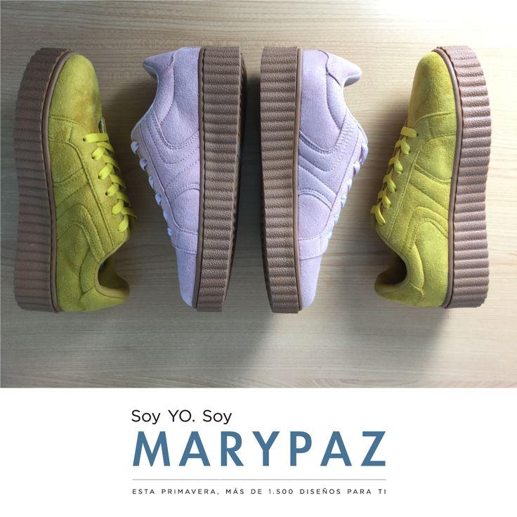 Deja huella con nuestras deportivas Creepers by MARYPAZ  Encuentra tu color favorito en tu tienda MARYPAZ más cercana o en ► http://www.marypaz.com/trendy/deportiva-tendencia.html  #welovesneakers #deportivas #SoyYoSoyMARYPAZ #follow #spring #summer #fashion #verano #colour #tendencias #marypaz #locaporlamoda #BFF #igers #moda #zapatos #trendy #look #itgirl #primavera #SS17 #igersoftheday #girl #shoponline #online #compraya
