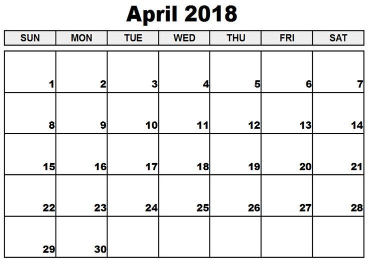 44 best 2018 Blank Calendars images on Pinterest