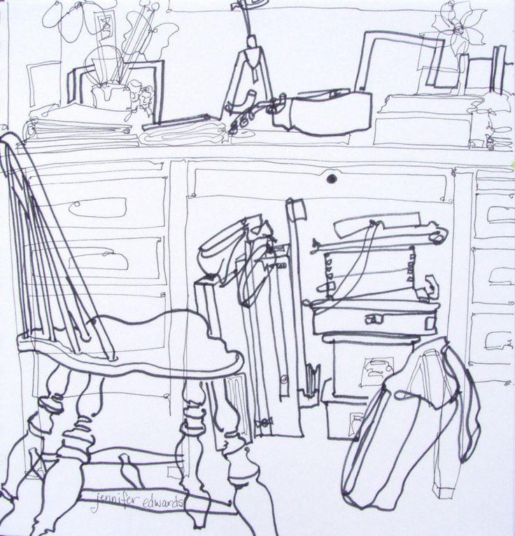 Blind Contour Line Drawing Lesson : Best continuous line contour drawings images on