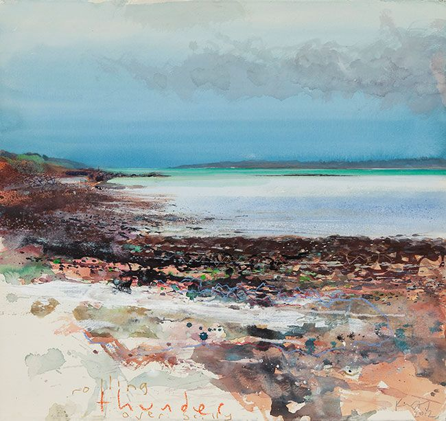 Kurt Jackson: Rolling thunder over Scilly. May 2012 Campden Gallery, fine art, Chipping Campden, camden gallery, contemporary, contemporary ...
