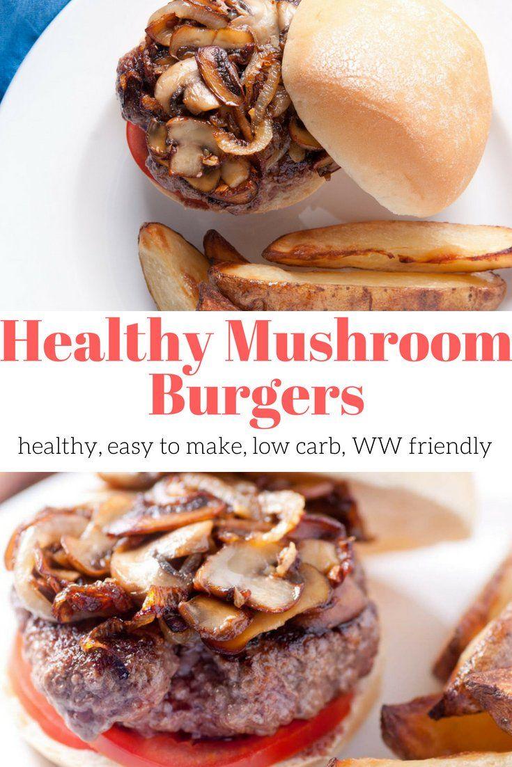 Portobello Mushroom Burgers Recipe Mushroom Burger Stuffed