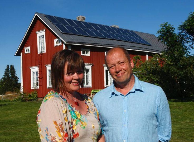 Solen ger 70 procent av familjens el.