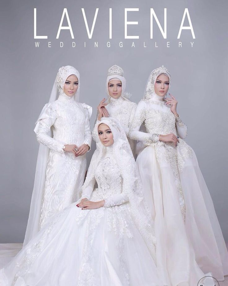 New collection wedding gown hijab by laviena for bride to be!  And you can also choose who makeupartist that will beautify your wedding day later  Photo by @nesnumoto