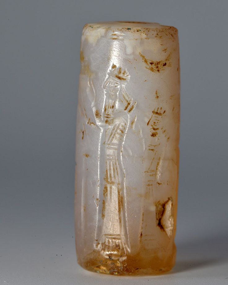 A Neo-Assyrian Chalcedony Cylinder Seal, ca. 8th - 7th ...