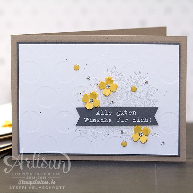 Geburtstagskarte - Stampin' Up! - Global Design Project - Awesomely Artistic - Anthrazitgrau - Schiefergrau - Osterglocke - Daffodil Delight - Basic Grey - Smoky Slate ❤︎ Stempelwiese