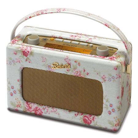 Cath Kidston Floral digital radio.  Super vintage looking and a really cool little radio.  I want this.