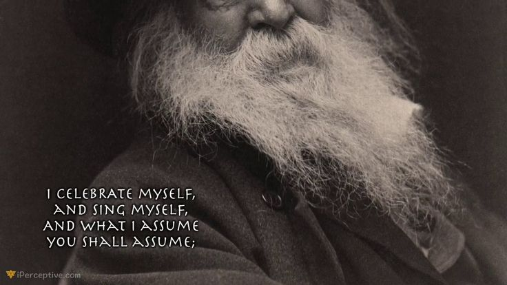 "Walt Whitman Quotes: ""I celebrate myself"" (Quotes & Art)"