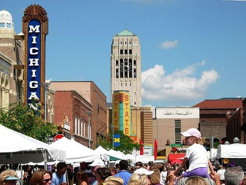 Ann Arbor Art Fair this week/ weekend. I'm a little bit terrified for my life as the crowds will be rolling in soon.