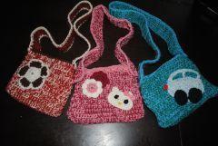 Háčkovaná taška/kabelka pro holky i kluky