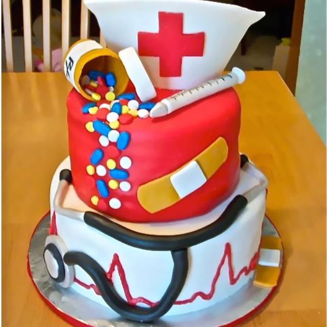Cute nurse cake for graduation parties :)