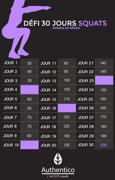 Défi Facebook Squat (belles fesses) qui commence le 1er Octobre sur Facebook https://www.facebook.com/events/1669855133293000/