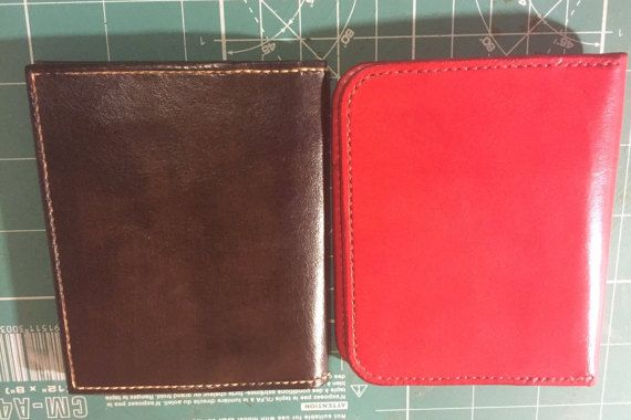 I Am M  Laravel slim leather wallet by IAmMTreasures on Etsy