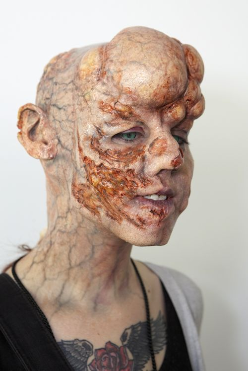 Make-up artist Neil Morrill creates a look -- Complections booth at IMATS T. '10