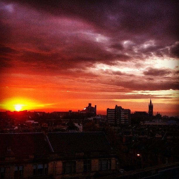 Sunrise in Glasgow by @GeekGirlX: Fav Cities, Honour Mention, Instagramyourc Glasgow, Sunrise Sunsets, Sunri Sunsets, Sunrises Sunsets