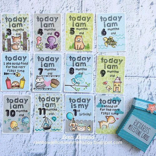baby milestone cards | by lexa_levana