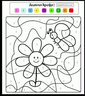 Coloriages magiques imprimer jeux de coloriage magique cp - Coloriage magique maternelle ms ...