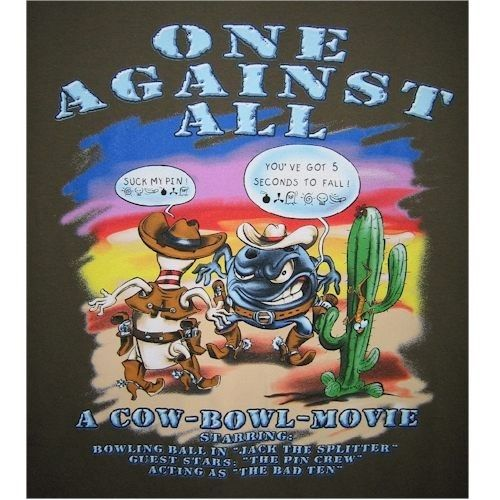 One Against All Bowling T-Shirt | Funny Bowling Shirts | Cheap Bowling T-Shirts | Bowling Concepts