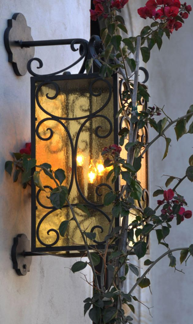 iron lighting~Old World, Mediterranean, Italian, Spanish & Tuscan Homes & Decor